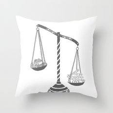Grayscale Throw Pillow