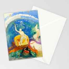 "Odilon Redon ""Apollo riding a green monster (Apollon chevauchant un monstre vert)"" Stationery Cards"