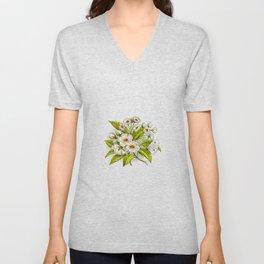 Cherry Tree Blossom Unisex V-Neck