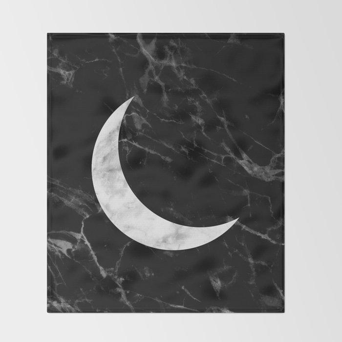 Marble Moon Throw Blanket