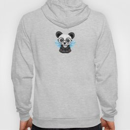 Cute Panda Cub with Fairy Wings and Glasses Blue Hoody