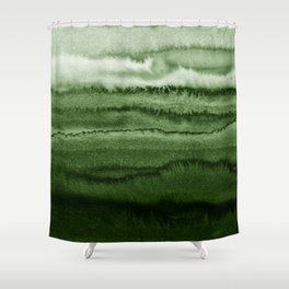 WITHIN THE TIDES FOREST GREEN by Monika Strigel Shower Curtain