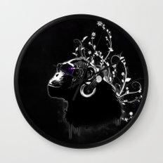 Monkey Tripping - Black Wall Clock