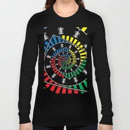 Spinning Disc Golf Baskets Long Sleeve T-shirt