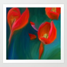 Tulips in May Art Print