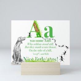 NICE LITTLE ANTS Mini Art Print