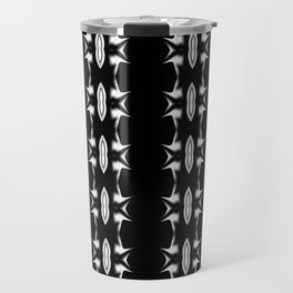 Barbed Wire Black and White Pattern Travel Mug