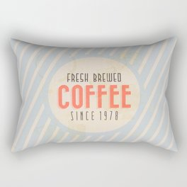 Fresh Brewed Coffee Rectangular Pillow