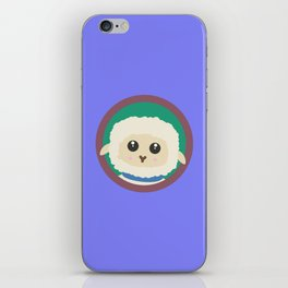 Cute Sheep with purple Circle iPhone Skin