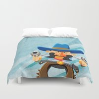 dwight Duvet Covers featuring Dwight McStetson by Rabassa