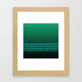 Horizon (green water) Framed Art Print
