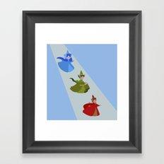3 Fairies (Blue)  Framed Art Print