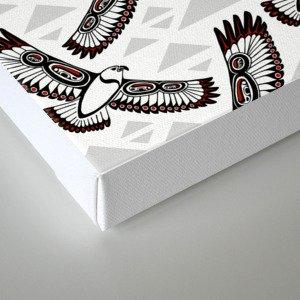 The Hawk's Flight_Bg Gray Canvas Print