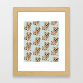 Schnoodle Pups Framed Art Print