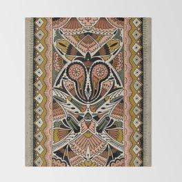 Botanical Print III Throw Blanket