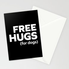 Free Hugs Dogs Funny Quote Stationery Cards