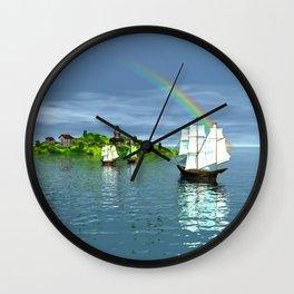 Reise zur Insel Wall Clock
