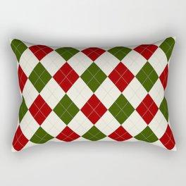 Christmas Argyle Pattern Rectangular Pillow