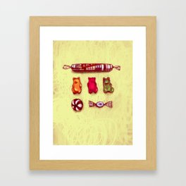 Rocket & Gummy Bears Framed Art Print