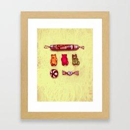 Rocket & Gummy Bears Framed Art Print