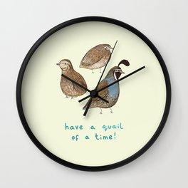 Quail of a Time Wall Clock