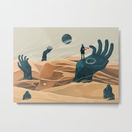 The wanderer and the desert portals Metal Print