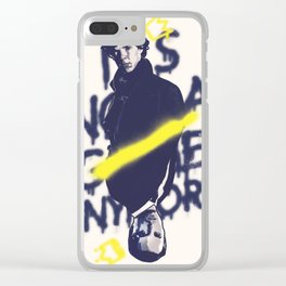 Not a game anymore Clear iPhone Case