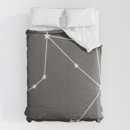 Libra (White & Grey Sign) Comforters