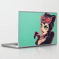 catwoman Laptop & iPad Skins featuring Catwoman by Piano Bandit
