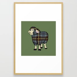 Faded Johnston Tartan Sheep Framed Art Print