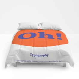 Oh! Typography Comforters