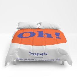 Oh! Typography Comforters