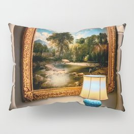Vintage Hall Painting Pillow Sham