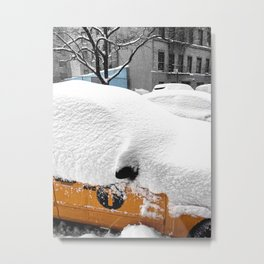 Wintry Ride Metal Print