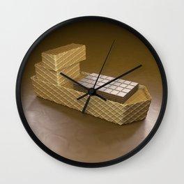 Chocolate Ship - 3D Art Wall Clock