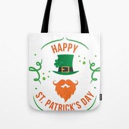 Funny Happy St Patricks Day Leprechaun Tote Bag