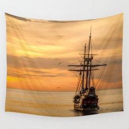 Sailing ship Wall Tapestry