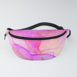 BLush Pink and Grey Flowing Abstract Painting Fanny Pack