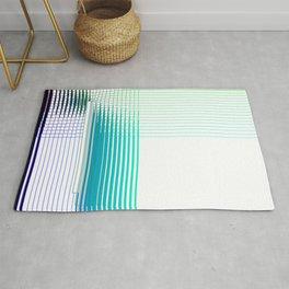 Blue Green Purple Thread Gradient Gridlines Rug