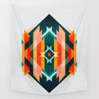 broken Wall Tapestries featuring Broken Diamond - Incalescence by Picomodi