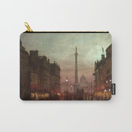 Whitehall at Twilight, Westminster, London, England by Louis H. Grimshaw Carry-All Pouch