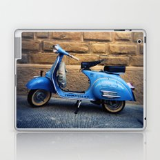 Blue Vespa, Italy Laptop & iPad Skin