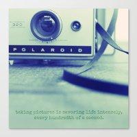 polaroid Canvas Prints featuring polaroid by darla winn photography