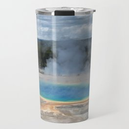 Grand Prismatic Springs,Yellowstone Travel Mug