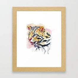 Ocelot Head Framed Art Print
