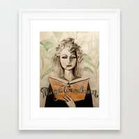 tenenbaum Framed Art Prints featuring Margot Tenenbaum by Justine Lecouffe