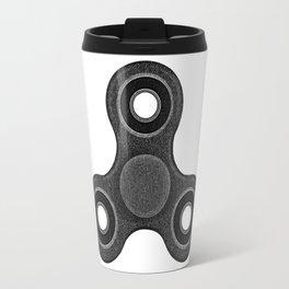 Fidget spinner  black denim photocollage Travel Mug