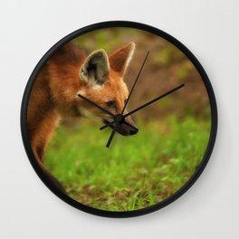 Wolf Strut Wall Clock
