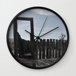 Sun Decayed Corral, Angle 2 Wall Clock