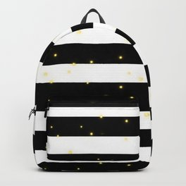 Black and White Stripes with Golden Dots Backpack